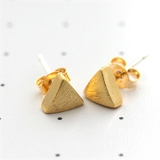 Gold Triangle Studs-jewellery-The Vault