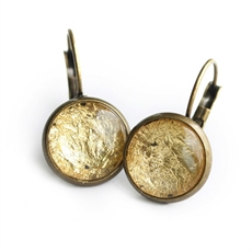 Gold Foil Earrings-jewellery-The Vault