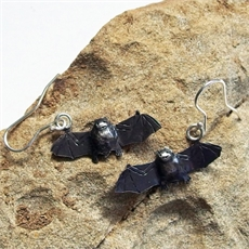 NZ Short Tailed Bat Earrings-sue-shore-The Vault