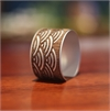 Alum Veneer Cuff Wave-jewellery-The Vault
