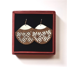 Alum Veneer Earrings Frangipani-jill-main-The Vault