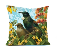 Cushion Cover Botanical Tui-artists-and-brands-The Vault
