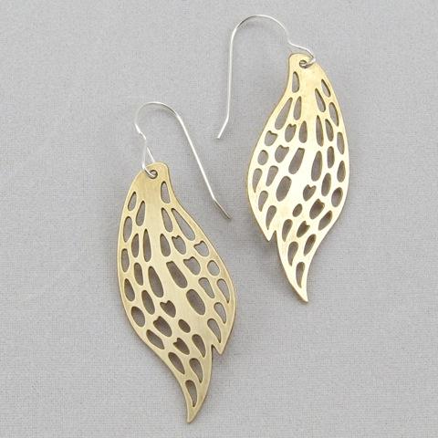 Fernbird Earrings Brass Nz Sor Jewellery View All Jewellery The Vault