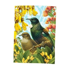 Tea Towel Botanical Tui-artists-and-brands-The Vault
