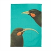 Tea Towel Huia Cyan -artists-The Vault