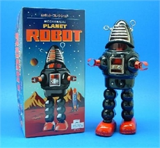 Tin Planet Robot Black 430 Boxed-fun-stuff-The Vault