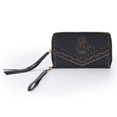 Vintage Fringe Wallet Tiki  Black-wallet,-purses-and-bags-The Vault