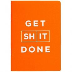 Get Shit Done Notebook Orange  -office-The Vault