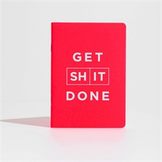 Get Shit Done Notebook Red-office-The Vault