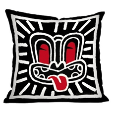 Dick Frizzell Cushion Cover Black Haring--home-The Vault