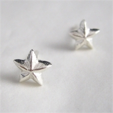 Star Studs Silver-jewellery-The Vault