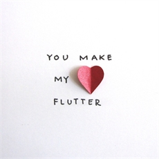 You Make My Heart Flutter Card-love-The Vault