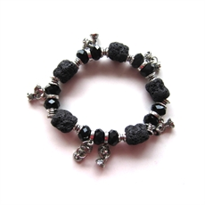 Lava Bracelet with Charms-sustainable-jewellery-The Vault
