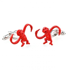 Red Monkeys Cufflinks-for-him-The Vault