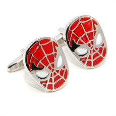 Spidey Mask Cufflinks Red-for-him-The Vault