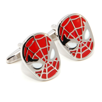 Spidey Mask Cufflinks Red
