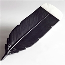 Huia Feather Black and White Small