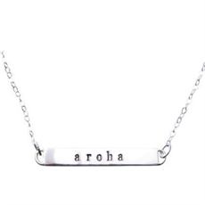 Silver Bar Necklace Aroha-pam-kerr-The Vault