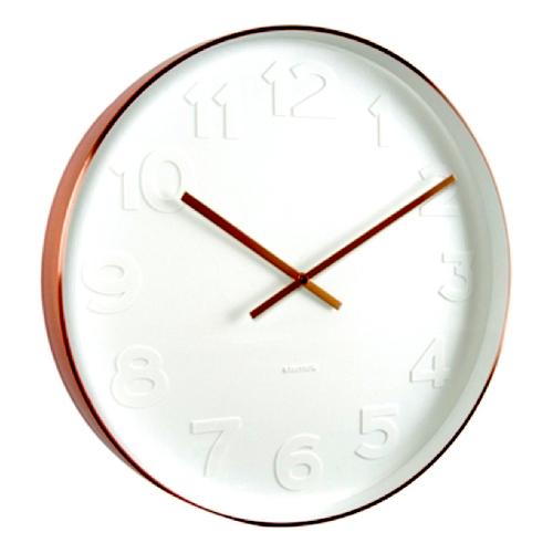 Karlsson Wall Clock Mr White Copper S Clocks Clocks