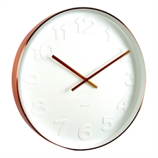 Karlsson Wall Clock Mr White Copper S-clocks-The Vault