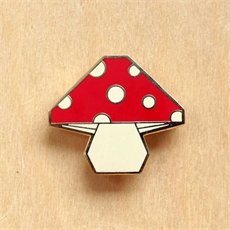 Origami Mushroom Brooch-jewellery-The Vault
