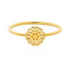 9ct Gold Lotus Ring Size O-jewellery-The Vault