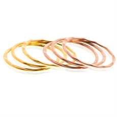 Lil 9ct Gold Stack Set of 3 Ring Size O -boh-runga-The Vault