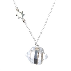 Nugget Necklace Star Long Rock Crystal-pam-kerr-The Vault