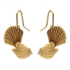 Gold Plate Fantail Earrings-jewellery-The Vault