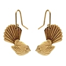 Fantail Earrings Gold Plate