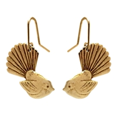 Fantail Earrings Gold Plate-jewellery-The Vault