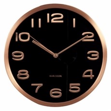 Wall Clock Maxie – Copper and Black-clocks-The Vault