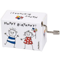 Music Box Happy Birthday Boy & Girl-woman-The Vault