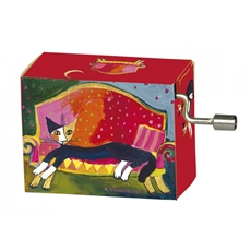 Music Box Wachtmeister Cat Resting Place-woman-The Vault