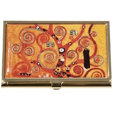 Calling Card Case Klimt Tree of Life-woman-The Vault