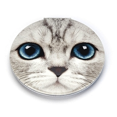 Silver Kitty Clam Mirror-woman-The Vault