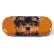 Glasses Case Yorkie on Orange-woman-The Vault