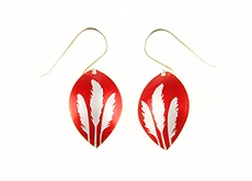 Toi Toi  Earrings - Alum - Red-jill-main-The Vault
