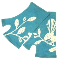 Merino Mitts Short Fantail Teal-woman-The Vault
