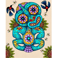Moko Tiki Print Lester Hall-home-and-wedding--The Vault