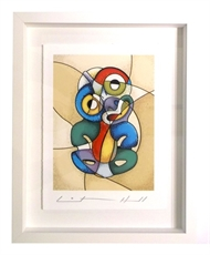 Tiki Picasso Framed - Small-lester-hall-The Vault