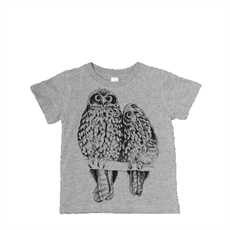 Kid's T Morepork Grey 2 Year Old -tumbleweed-The Vault