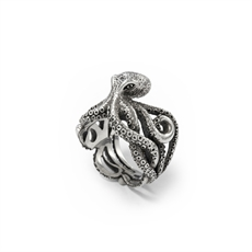 Octopus Ring Silver-jewellery-The Vault