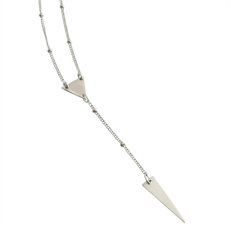 Triangle&Spear Drop Necklace Short-jewellery-The Vault
