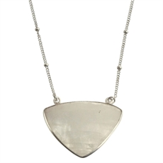 Triangle Necklace White Howlite Short-pam-kerr-The Vault