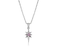 Little Star Necklace Pink Sapphire-nick-von-k-The Vault