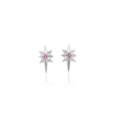 Little Star Earrings Pink Sapphire-nick-von-k-The Vault