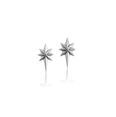 Little Star Earrings Silver-nick-von-k-The Vault