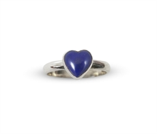 Mini Ring Lapis Heart-nick-von-k-The Vault