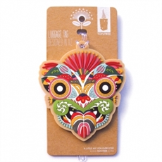 Luggage Tag Floral Tiki-woman-The Vault